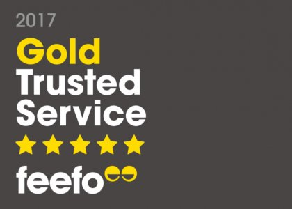 Skipton International awarded Feefo Gold Trusted Service Award 2017