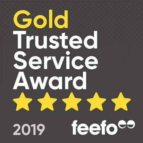 Feefo Gold Award Winner 2019