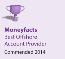 Moneyfacts Awards 2014 - Best Offshore Account Provider - Commended